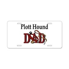 Plott Hound Dad Aluminum License Plate