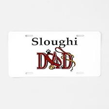 Sloughi Dad Aluminum License Plate