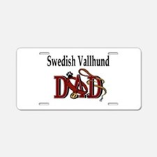 Swedish Vallhund dad Aluminum License Plate