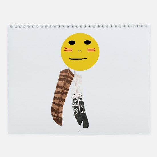 Indian Smiley Face Wall Calendar