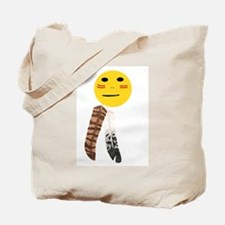 Indian Smiley Face Tote Bag