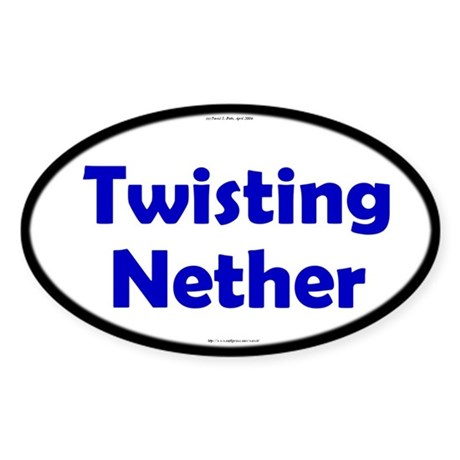 Twisting Nether Blue Server Oval Sticker
