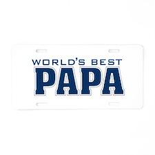 Cute Papa Aluminum License Plate