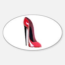 Black heel red stiletto shoe Decal