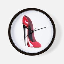 Black heel red stiletto shoe Wall Clock