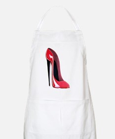 Black heel red stiletto shoe Apron