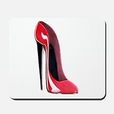 Black heel red stiletto shoe Mousepad
