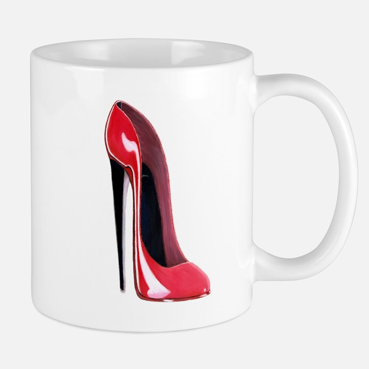 Black heel red stiletto shoe Mug