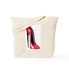 Black heel red stiletto shoe Tote Bag