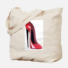 Black heel red stiletto shoe Tote Bag