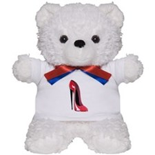 Black heel red stiletto shoe Teddy Bear