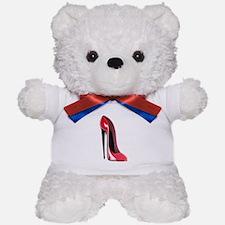 Black heel red stiletto shoe Teddy Bear