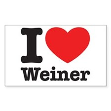 I Heart Weiner Decal
