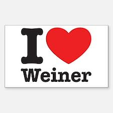 I Heart Weiner Decal