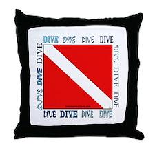 Multi Dive Flag Throw Pillow