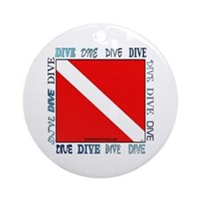 Multi Dive Flag Ornament (Round)