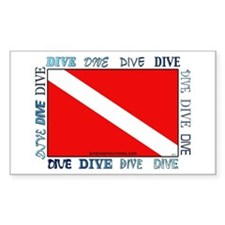 Multi Dive Flag Rectangle Decal