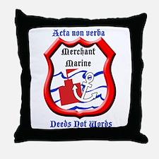 Merchant Marine Logo Throw Pillow