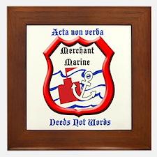 Merchant Marine Logo Framed Tile