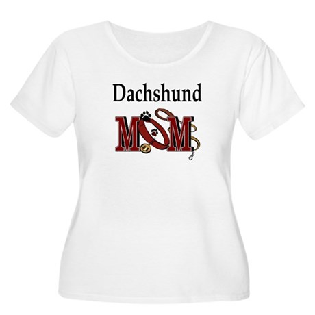 Dachshund Mom Gifts Women's Plus Size Scoop Neck T