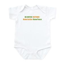 No Justice No Peace Infant Creeper
