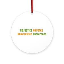 No Justice No Peace Ornament (Round)