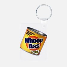Funny Can Of Whoop Ass Keychains