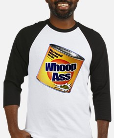 Funny Can Of Whoop Ass Baseball Jersey