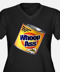 Funny Can Of Whoop Ass Women's Plus Size V-Neck Da