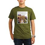 Basenji Art Organic Men's T-Shirt (dark)