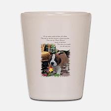 Saint Bernard Puppy Shot Glass