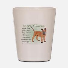 Belgian Malinois Shot Glass