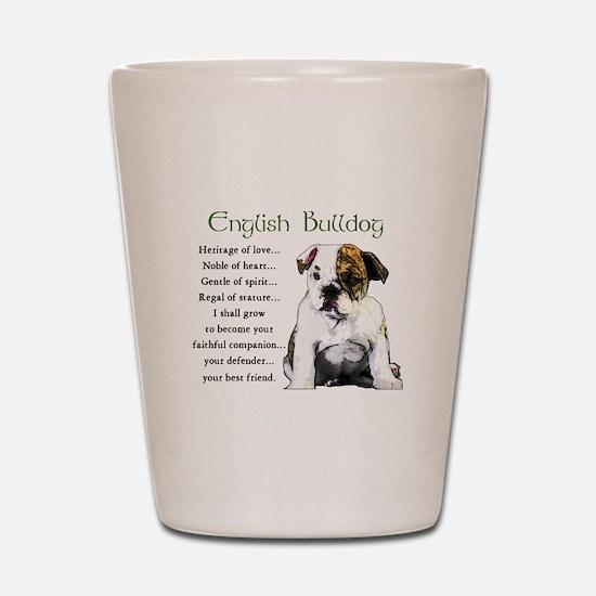 English Bulldog Shot Glass