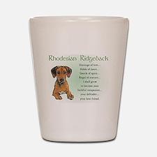 Rhodesian Ridgeback Shot Glass