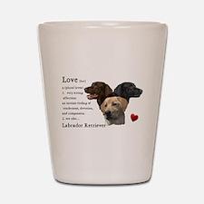 Labrador Retriever Love Shot Glass