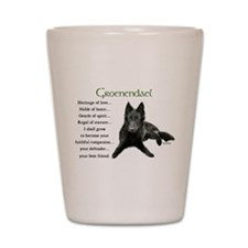 Groenendael Belgian Sheepdog Shot Glass