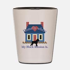 Unique Black russian terrier Shot Glass