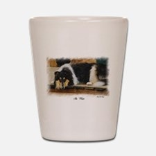 Tri Color Collie Shot Glass