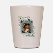 Rough Collie Gifts Shot Glass