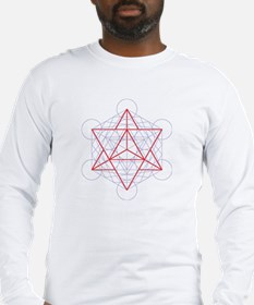 Long Sleeve T-Shirt with startetrahedron