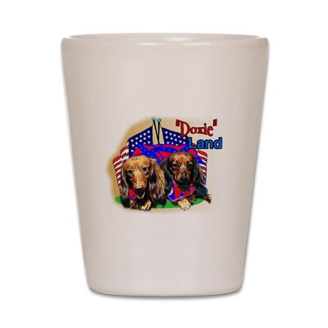"Pun Intended_""Doxie"" Land Shot Glass"
