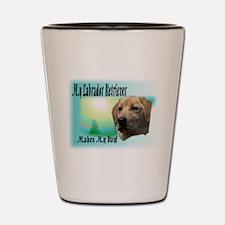 My Labrador Makes My Day Shot Glass