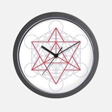 Wall clock with startetrahedron