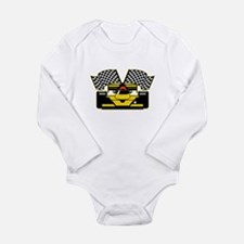 YELLOW RACECAR Long Sleeve Infant Bodysuit