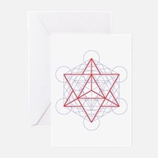 Greeting cards with startetrahedron (6x)