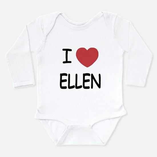 I heart ellen Long Sleeve Infant Bodysuit