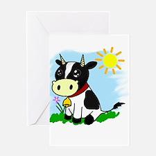 Unique Adorable cow Greeting Card
