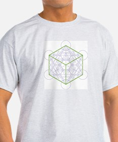 Ash grey T-shirt with cube
