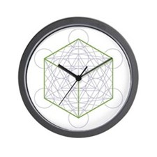 Wall clock with cube