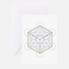 Greeting cards with cube (6x)